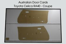 Toyota CELICA RA40 Coupe Door Cards, Blank Trim Panels
