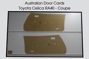 Toyota CELICA RA40 Coupe Door Cards, Blank Trim Panels