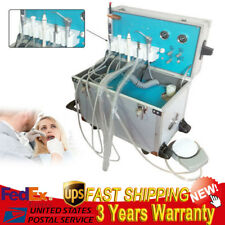 Portable Dental Delivery Unit 2 Hole Air Compressor Suction System Equipment550W
