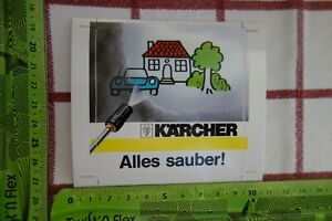 Alter Aufkleber Gartengeräte Dampfstrahler KÄRCHER Alles sauber!