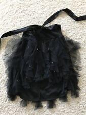 Kate Mack Chasing Fireflies black tulle cascade ruffle skirt black size 7