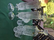 Vintage crystal drink and decanter set in mint condition.