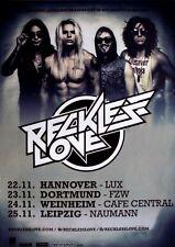 RECKLESS LOVE - 2016 - Tourplakat - Concert - Invader - Tourposter
