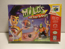 Milo's Astro Lanes (Nintendo 64 N64, 1998) Brand New Factory Sealed RARE