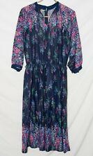 Vintage 1970s Boho Floral Dress Size M / L