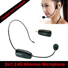 EYOYO 2.4G Wireless Handheld Microphone Headset MIC Audio 3.5mm For Speaker