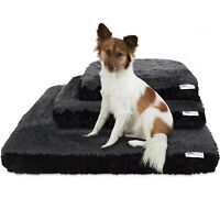 Dog & Cat Pet Bed Bolster Foam Deluxe Bedding Cuddler Fluffy Pillow- Med Black