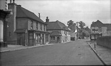 B/W Negative Overton Hampshire Post Office Street Scene 1940s +Copyright DB779