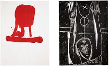 "Mimmo Paladino ""Carro dormente"" Original Woodcut Lithograph LinocutS/N"