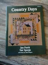 """COUNTRY DAYS"" BY JAN PATEK & SUE SPARGO BOOK BRAND NEW CONDITION"