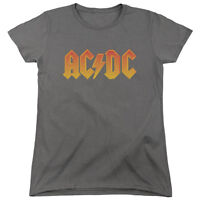 ACDC AC-DC Rock Band CLASSIC LOGO Licensed Women's T-Shirt All Sizes