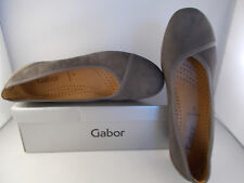 Gabor Grey Suede Nubuk Lavato Flats 34.160.19 Women's Shoes Sz 10 US New In Box