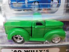 MUSCLE MACHINES - (1940 WILLYS) '40 WILLY'S PICKUP TRUCK - 1/64 DIECAST