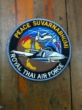 Peace Suvarnabhumi Gripen Saab Royal Thai Air Force Patch Hight Bid Patch