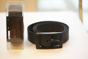 Black Professional Silicone Belt Plastic Buckle Work MOD Security Guard Military