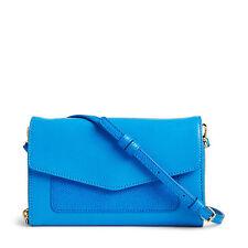 Vera Bradley Coastal Blue Leather Ultimate Crossbody Bag  iPhone 6+ NWT $128