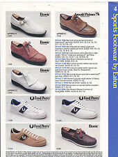 VINTAGE AD SHEET #3326 - ETONIC - FRED PERRY SHOES
