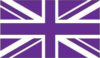 GREAT BRITAIN / UNION JACK FLAG VINYL STICKER IN PURPLE - Car Bumper Sticker