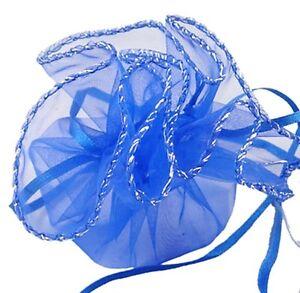 "10 Circular 26cm/10"" Organza Jewellery Wedding Favour / Favor Gift / Present Bag"
