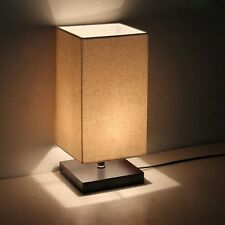 Moderne Minimaliste Style Designer Lin Abat-jour Bois Bureau Lampe De Chevet