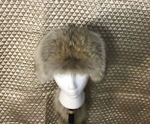 COYOTE MOUNTAIN MAN FUR HAT WITH TAIL