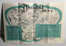 New Listing1955 Welcome To Disneyland Original First Brochure and Map to Walt Disney's Park