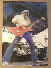 Zz Top Original Vintage Poster Pin-up Rock Music Memorabilia 1970's Retro 1980's