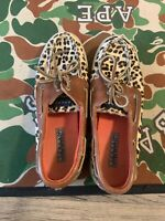 Sperry Top-Sider Leopard Print Calf Hair Boat Shoes Women's Size 7.5