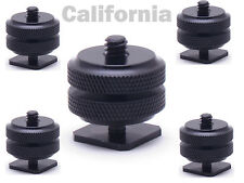 "Lot of 5x Pro1/4""-20 Tripod Mount Screw to Flash Camera Hot Cold Shoe Adapter"