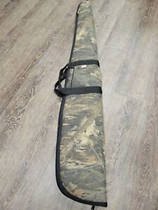 Allen Camo Rifle Shotgun Carrying Back Tote Corduroy Lining Gun Case Made USA