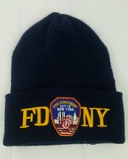 Fire Department NY Fire Rescue Fireman Watch Cap Knit Winter Beanie Pre 9/11