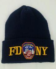 Fire Department NY Fire Rescue Fireman Watch Cap Knit Winter Beanie Pre 9/11