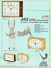 PUBLICITE ADVERTISING 115  1968  Jaz transistor   pendulette-réveil Dator