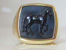$2700 DAVID YURMAN 18K GOLD PETRVS HORSE RING