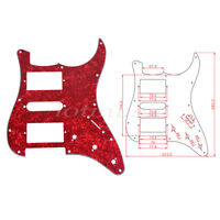 3 Ply Guitar Pickguard For Fender Strat ST Strat HSH Pickup –Red Pearl