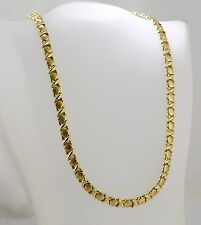 """14K Yellow Gold 18"""" Ladies """"X & O"""" Necklace"""
