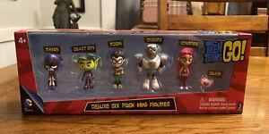 Teen Titans Go! Teen Titans 2-Inch Mini Figures Deluxe Six 6-Pack NEW