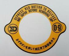 SUZUKI GT750 RE5 WATER BUFFALO RADIATOR CAP DECAL