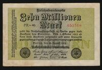1923 Germany 10 million mark banknote uncirculated P-106a