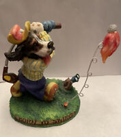 ENESCO DOG GONE GOLF DAVID OLSEN BORN TO SWING #299219 FIGURINE