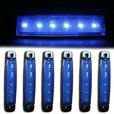 6x 24V Side Marker Blue Lights 6 LED Signal Lamps Fits Truck Lorry Trailer Bus