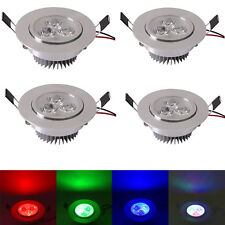 4X RGB Color Changing 5W LED Spot Down Light Remote Control Room Ceiling Fixture