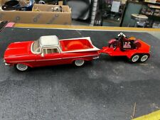 1959 Chevy El Camino W Trailer Indian Chief 4 cylinder Toy Die Cast Car Collecti
