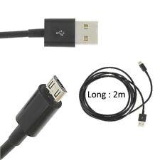 Cable Micro USB negro 2M para Asus ZenFone 3 Max ZC520TL
