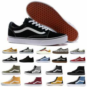 All Size VANS Old Skool Skater Shoes Men&Women Hi Lo Top Trainer Canvas Sneakers