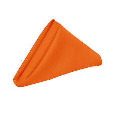 Top Quality Heavy Duty ex-hire NAPKINS Wedding Catering pack of 12 Bright Orange