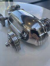 More details for large vintage race car aluminum art deco style model ,lotus /jag man cave bar