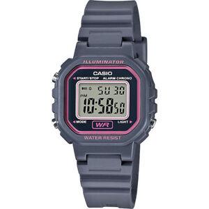 Casio LA20WH-8A, Illuminator, Digital Gray Resin Watch, Chronograph, Alarm