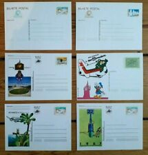 PORTUGAL 6x PICTURED Postal stationery illustrated cards UNUSED