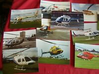 JOB LOT X 200 COLOUR PHOTO POSTCARD SIZE PICTURES OF HELICOPTERS 6 X 4 APPROX